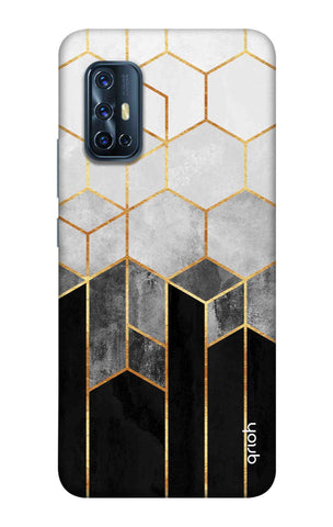 Tricolor Pattern Case Vivo V17 Cases & Covers Online