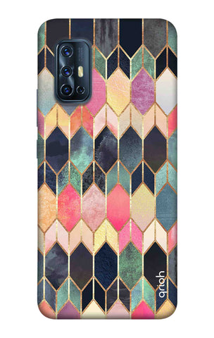 Colorful Brick Pattern Case Vivo V17 Cases & Covers Online
