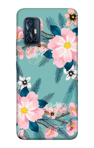 Graceful Floral Case Vivo V17 Cases & Covers Online