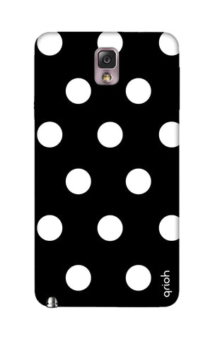 White Polka On Black Samsung Note 3 Cases & Covers Online