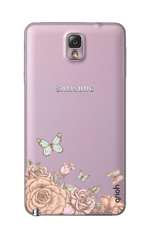 Flower And Butterfly Samsung Note 3 Cases & Covers Online