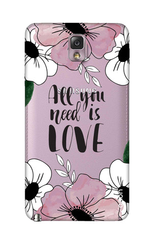 All You Need is Love Samsung Note 3 Cases & Covers Online