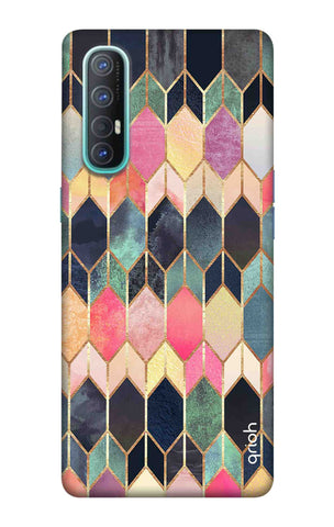 Colorful Brick Pattern Case Oppo Reno 3 Pro Cases & Covers Online