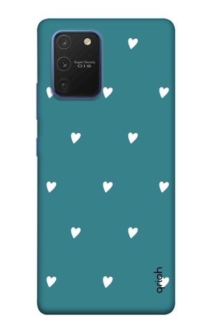 Mini White Hearts Case Samsung Galaxy S10 lite Cases & Covers Online