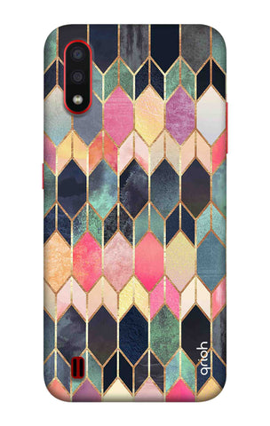 Colorful Brick Pattern Case Samsung Galaxy A01 Cases & Covers Online