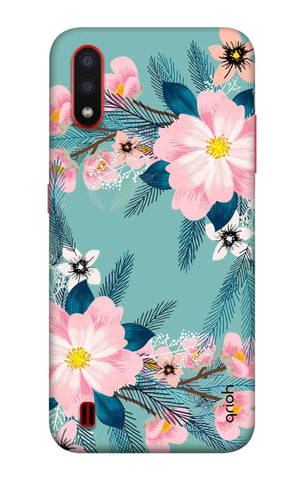 Graceful Floral Case Samsung Galaxy A01 Cases & Covers Online