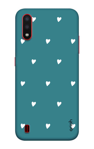 Mini White Hearts Case Samsung Galaxy A01 Cases & Covers Online