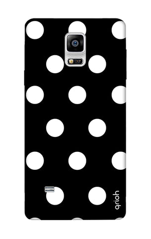 White Polka On Black Samsung Note Edge Cases & Covers Online
