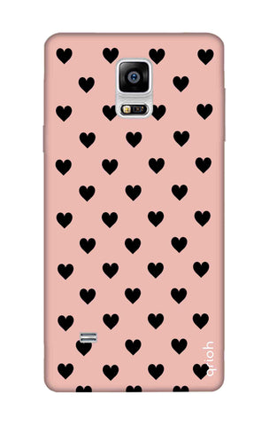 Black Hearts On Pink Samsung Note Edge Cases & Covers Online