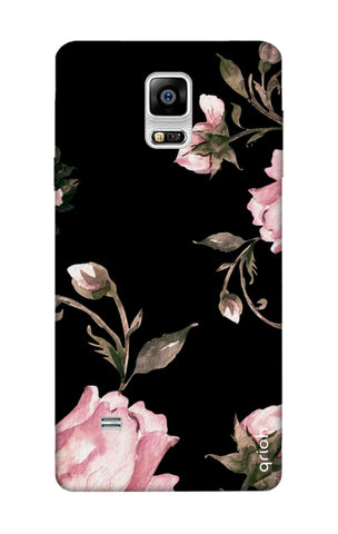 Pink Roses On Black Samsung Note Edge Cases & Covers Online