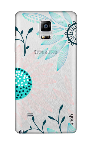 Pink And Blue Petals Samsung Note Edge Cases & Covers Online
