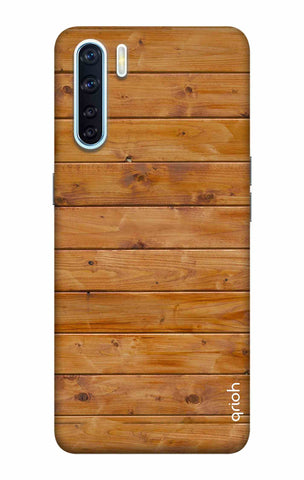 Natural Wood Oppo F15 Cases & Covers Online