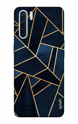 Abstract Navy Oppo F15 Cases & Covers Online