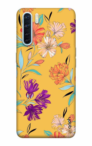 Illustrated Floral Case Oppo F15 Cases & Covers Online