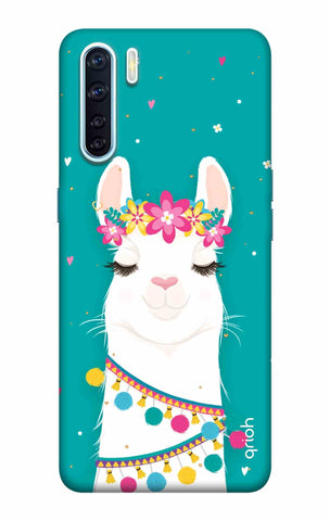 Adorable Llama Case Oppo F15 Cases & Covers Online