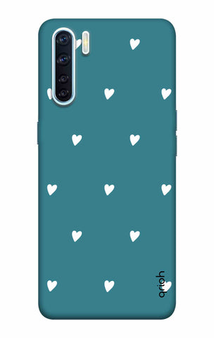 Mini White Hearts Case Oppo F15 Cases & Covers Online