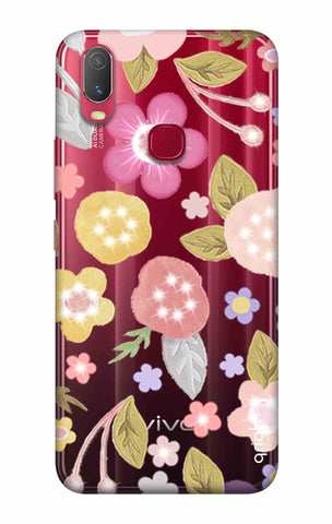 Multi Coloured Bling Floral Vivo Y11 2019 Cases & Covers Online