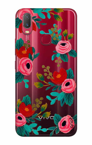 Red Floral Vivo Y11 2019 Cases & Covers Online