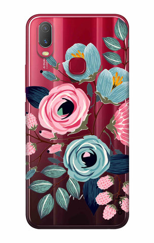 Pink And Blue Floral Vivo Y11 2019 Cases & Covers Online
