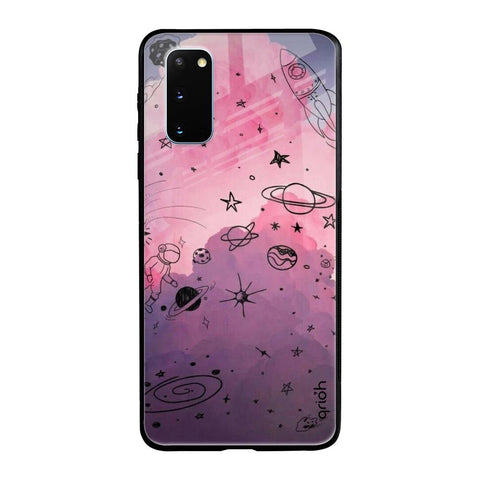 Space Doodles Samsung Galaxy S20 Glass Cases & Covers Online