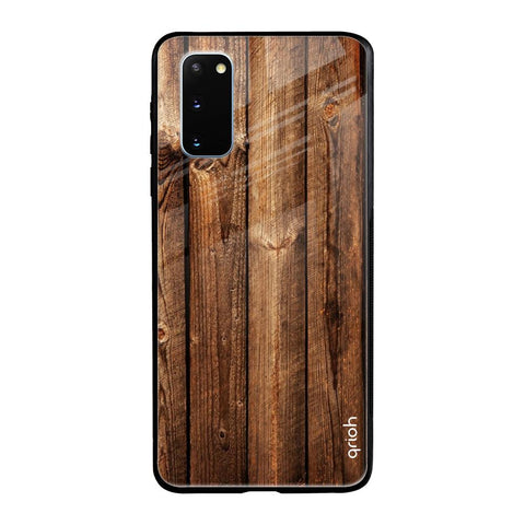 Timber Printed Samsung Galaxy S20 Glass Cases & Covers Online