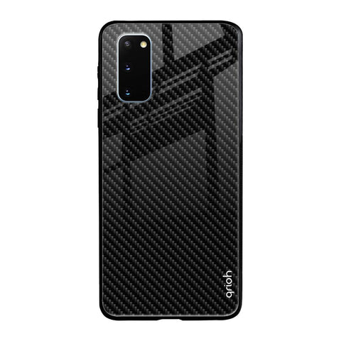 Carbon Fibre Texture Samsung Galaxy S20 Glass Cases & Covers Online