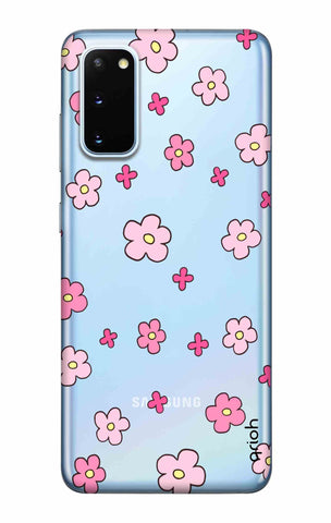 Pink Flowers All Over Samsung Galaxy S20 Cases & Covers Online
