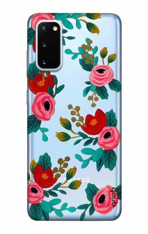 Red Floral Samsung Galaxy S20 Cases & Covers Online