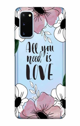 All You Need is Love Samsung Galaxy S20 Cases & Covers Online