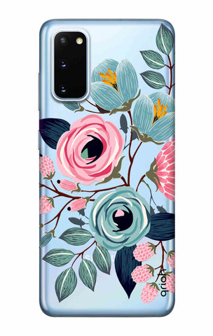Pink And Blue Floral Samsung Galaxy S20 Cases & Covers Online