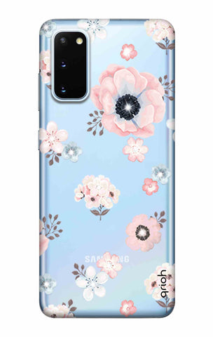 Beautiful White Floral Samsung Galaxy S20 Cases & Covers Online