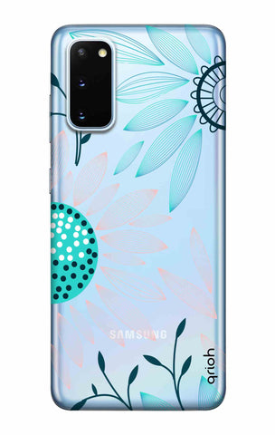 Pink And Blue Petals Samsung Galaxy S20 Cases & Covers Online