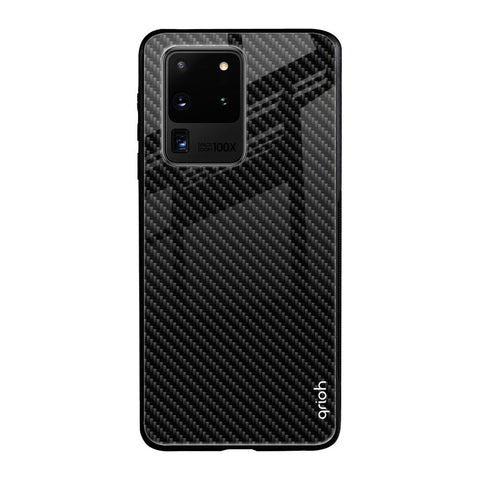 Carbon Fibre Texture Samsung Galaxy S20 Ultra Glass Cases & Covers Online