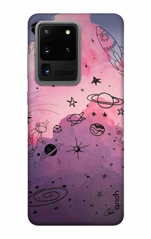 Space Doodles Art Samsung Galaxy S20 Ultra Cases & Covers Online