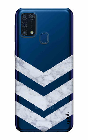 Marble Chevron Samsung Galaxy M31 Cases & Covers Online