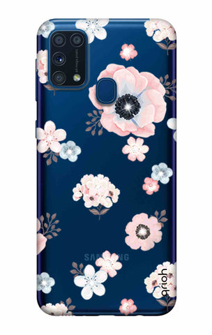 Beautiful White Floral Samsung Galaxy M31 Cases & Covers Online