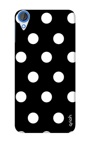 White Polka On Black HTC 820 Cases & Covers Online