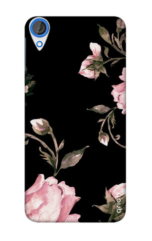 Pink Roses On Black HTC 820 Cases & Covers Online