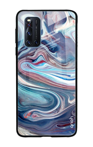 Elegant Water Stream Vivo V19 Glass Cases & Covers Online