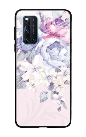 Elegant Floral Vivo V19 Glass Cases & Covers Online