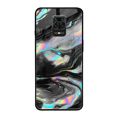 Fluid Holographic RedMi Note 9 Pro Max Glass Cases & Covers Online
