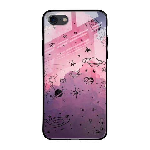 Space Doodles iPhone SE 2020 Glass Cases & Covers Online