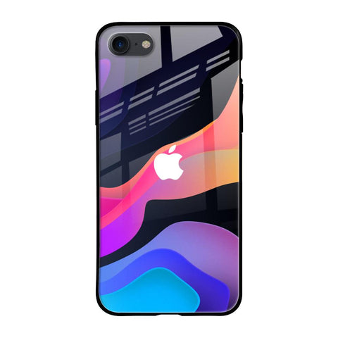 Colorful Fluid iPhone SE 2020 Glass Cases & Covers Online