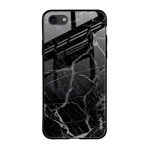 Black Stone Taxture Marble iPhone SE 2020 Glass Cases & Covers Online