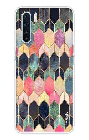 Colorful Brick Pattern Case Oppo A91 Cases & Covers Online
