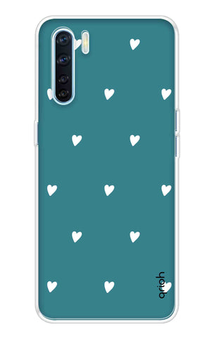 Mini White Hearts Case Oppo A91 Cases & Covers Online
