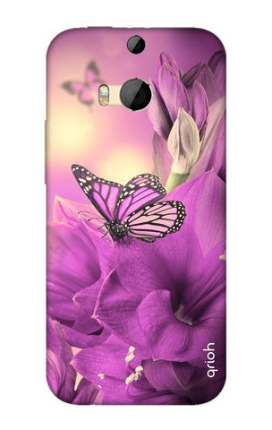 Purple Butterfly HTC M8 Cases & Covers Online