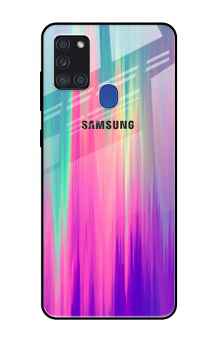 Vibrant Strokes Samsung Galaxy A21s Glass Cases & Covers Online