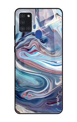 Elegant Water Stream Samsung Galaxy A21s Glass Cases & Covers Online