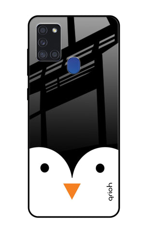 Cute Penguin Samsung Galaxy A21s Glass Cases & Covers Online
